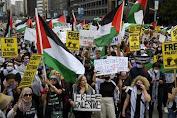 Demo Besar di Sejumlah Kota di Amerika Serikat Tunjukkan Solidaritas ke Palestina