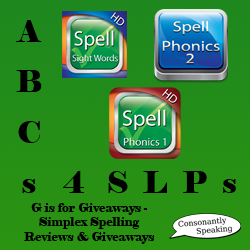 ABCs 4 SLPs: G is for Giveaways - Simplex Spelling Reviews and Giveaways image
