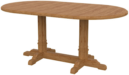 Parma Round Conference Table in Manor Hickory