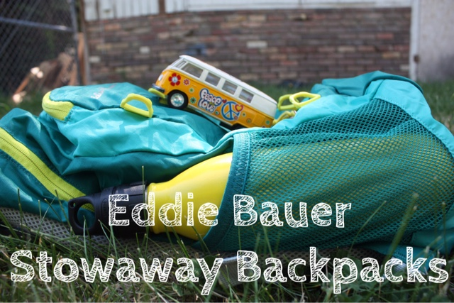 Eddie Bauer Stowaway Backpacks Title Card