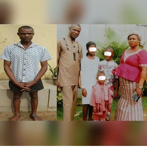 An Akwa-Ibom State Church Elder Has Been Arrested After Butchering His Wife In Front Of Their 3 Kids