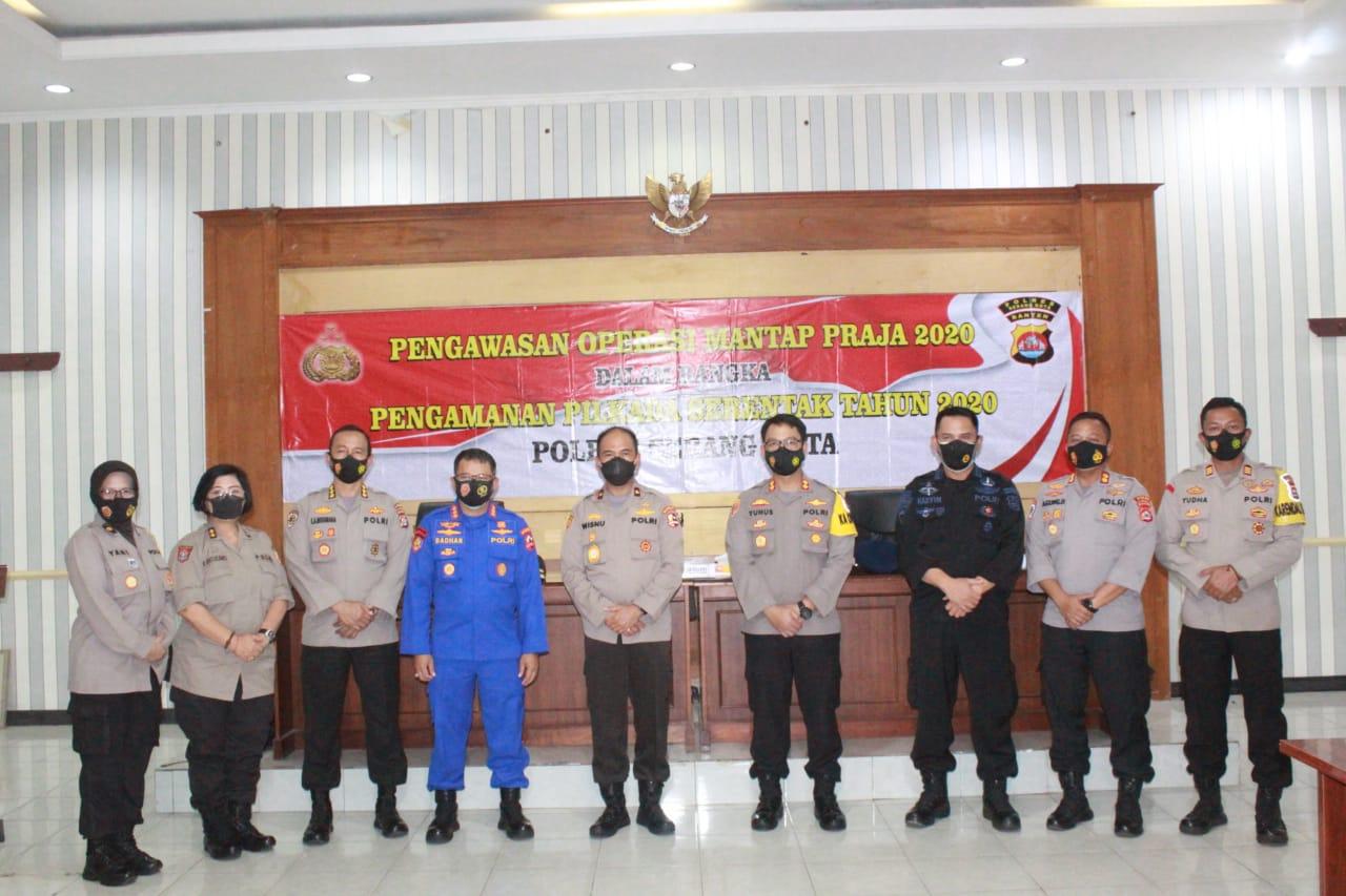 Polda Banten Terima Tim Supervisi Ops Mantap Praja 2020 Mabes Polri