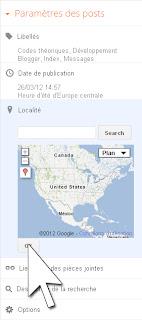 Activer l'option de localisation dans l'éditeur d'articles