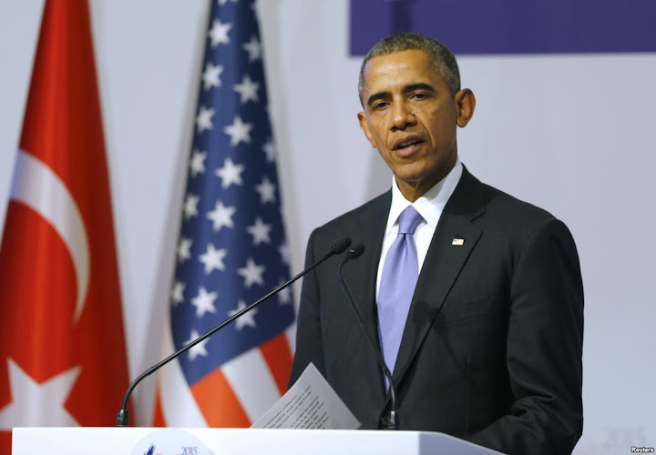 Obama rejects American leadership in war on terror