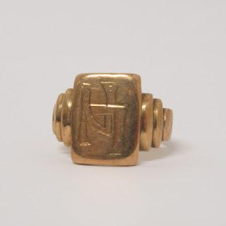 Vintage 14K Art Deco Gold Ring