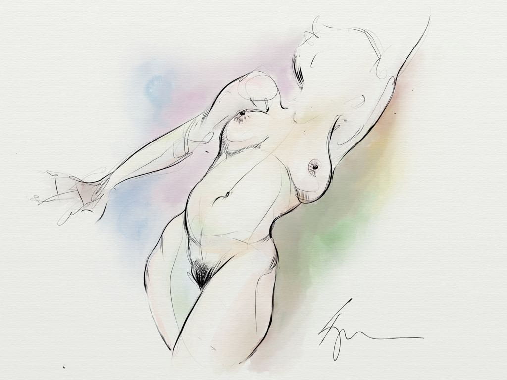 sketches first nude reclined made with Sketches