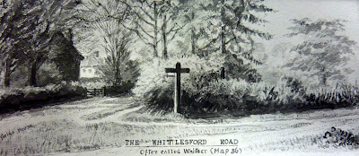 The cross that used to be sited at the junction of Whittlesford Road and the High Street. It is now in the Churchyard.