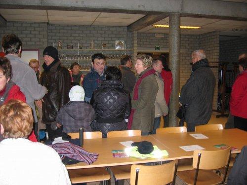 Samenkomst in Zaal Parecia te Leerbeek.