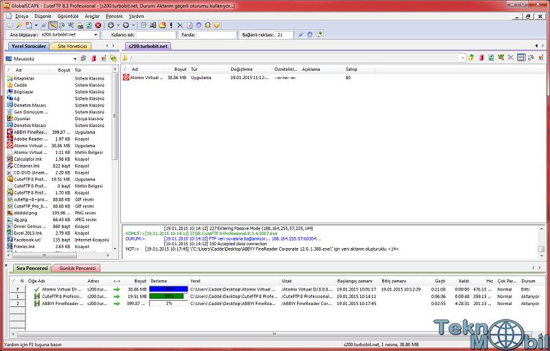 CuteFtp Pro v9.0.5.007 Türkçe Full İndir