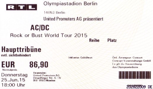 Ticket Olympiastadion