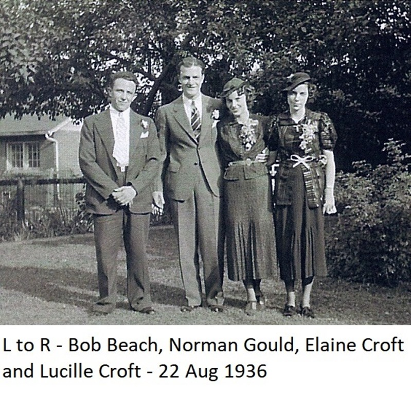 GOULD_Norman & Croft Elaine Marriage photo _1936_labeled