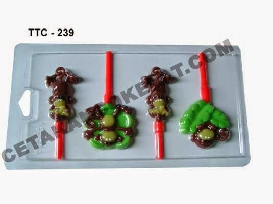 Cetakan Coklat  TTC239 Hewan Monyet