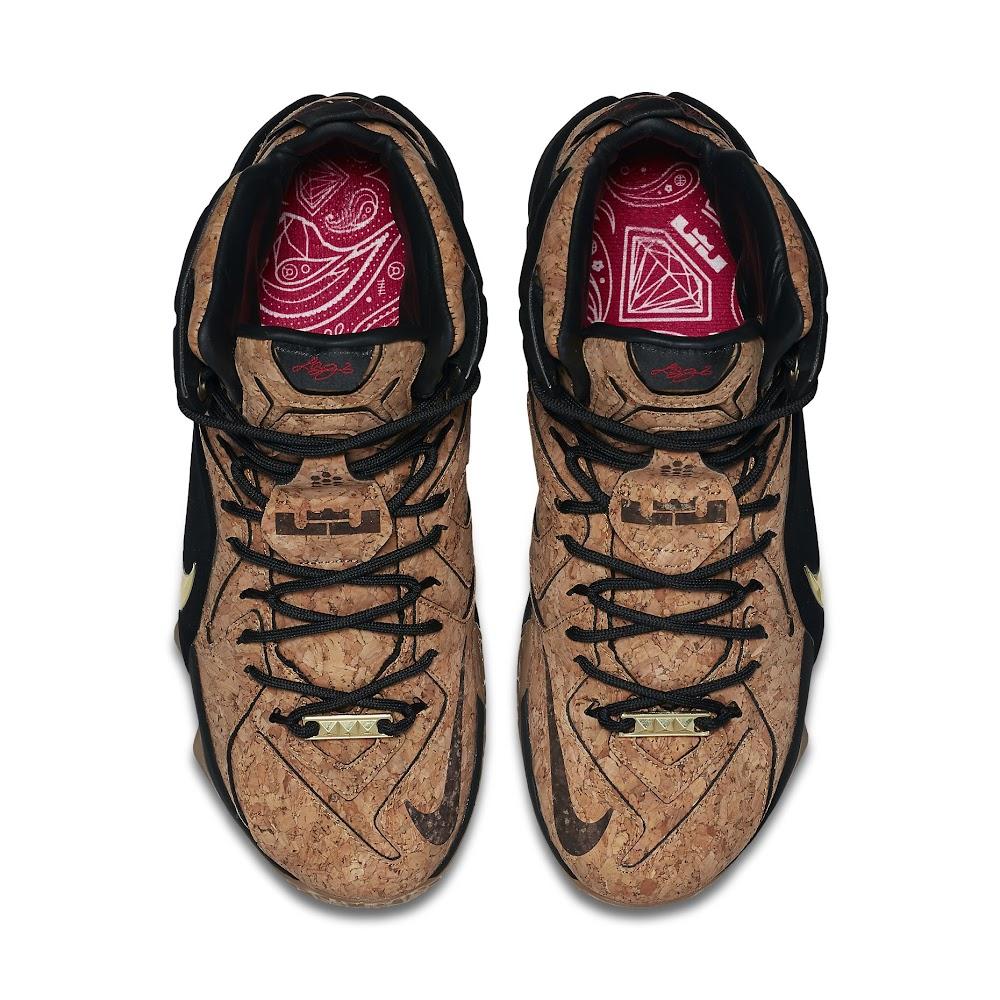 buy popular 16758 6d916 ... Release Reminder Nike LeBron 12 EXT Kings Cork Close Ups