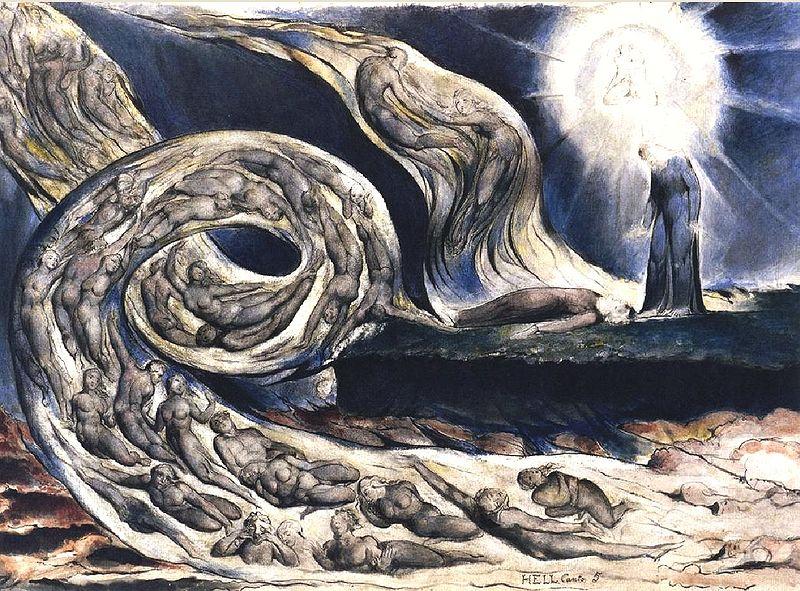 Blake Dante Hell V, William Blake