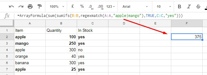 How to use SUMIFS for multiple criteria in the same column +