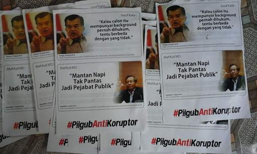 """Selebaran """"PilgubAntiKoruptor"""", """"Mantan Napi Tak Pantas Jadi Pejabat Publik"""" Beredar di Bone"""