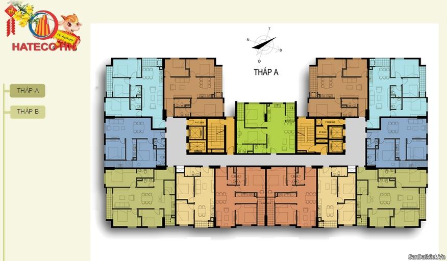 Tòa A chung cư Hateco Hoàng Mai