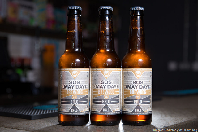BrewDog / BRLO Collaboration SOS (May Day) Releasing Today To Equity Punks