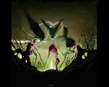 Three Green Witches On Sabbath