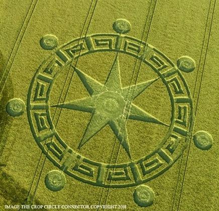 Símbolo do Círculo de Colheita dos Sete Anjos do Apocalipse na Terra 01