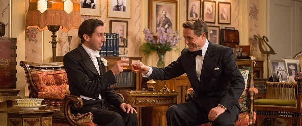 simon helberg and hugh grant in FLORENCE FOSTER JENKINS