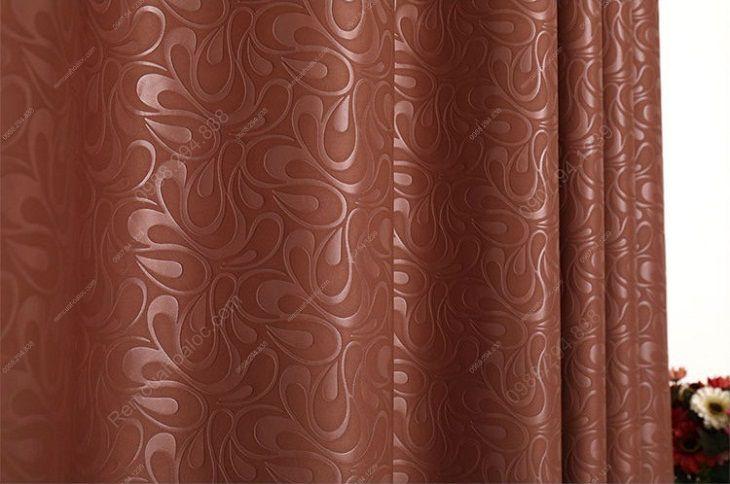 Rèm cửa cao cấp hà nội một màu socola tráng cao su 12