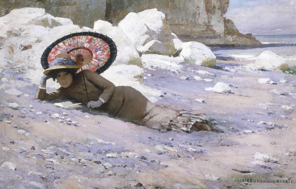 Charles Sprague Pearce - Reading by the Shore, ca. 1883-85
