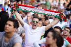 Szurkolók  a franciaországi labdarúgó Európa-bajnokság Ausztria - Magyarország mérkőzés előtt, 2016 (MTI Fotó: Balogh Zoltán)