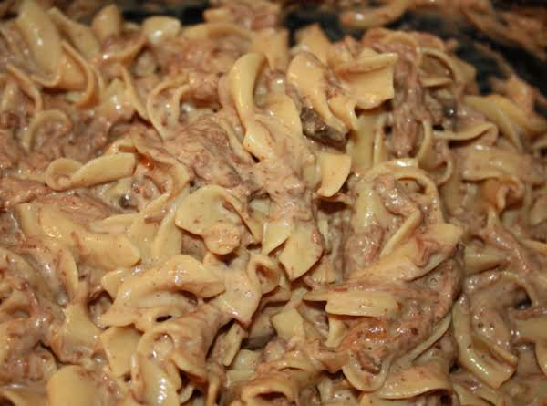 Meg's Homemade Crockpot Beef Stroganoff Recipe