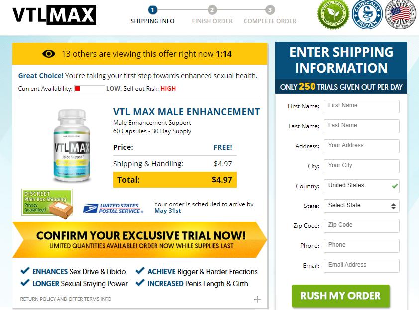 VTL Max Male Enhancement Pills, Stamina, Size, Testosterones | homify