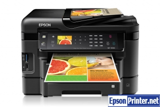 Reset Epson WorkForce WF-3530 laser printer with tool