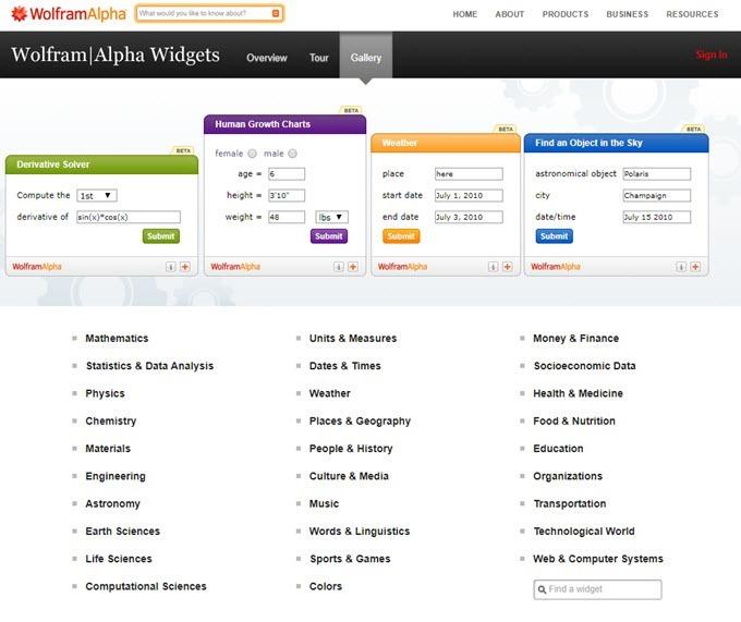wolframalpha-widget