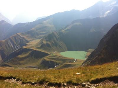 Lac de la Muzelle depuis le Col du Vallon
