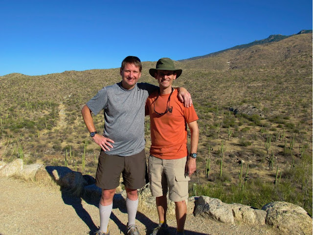 Mark and Chris, Saguaro National Park. Lassoing the Sun: A Year in America's National Parks