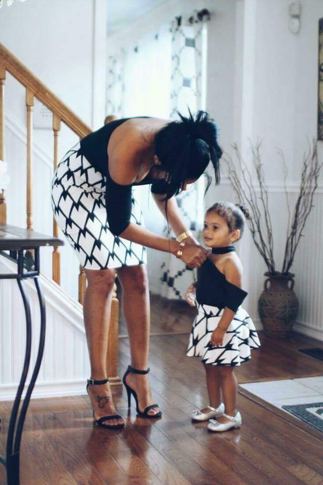 Fabulous Hot Styles For Mother And Child (Daughter) 5
