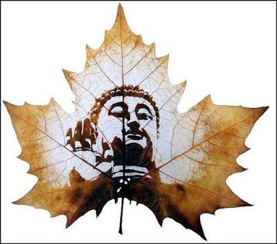 انقش صــورة تحــب الشجــر.. غاية الروعة leaf_painting_art_18