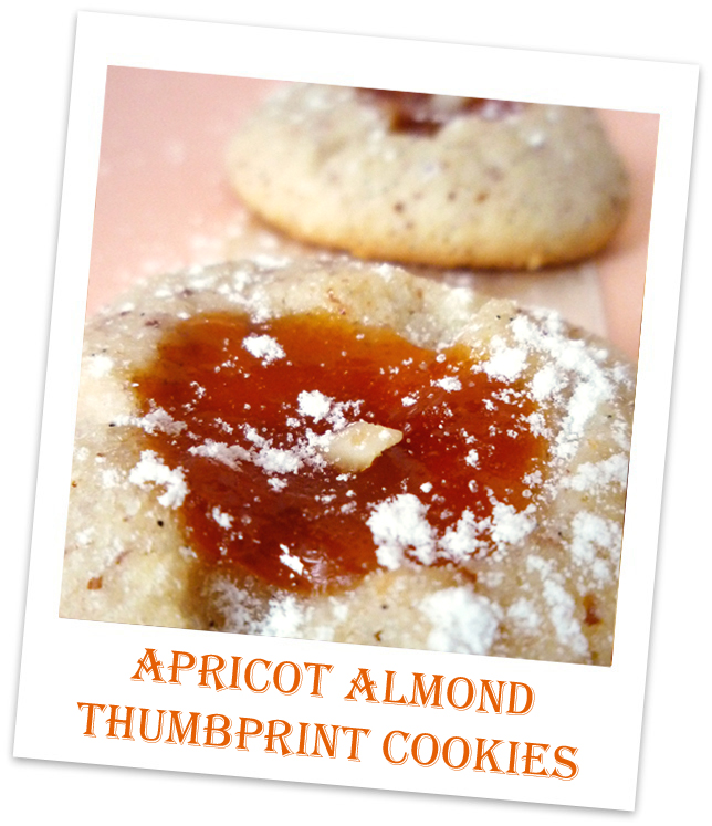 Catalina Bakes: Apricot Almond Thumbprint Cookies
