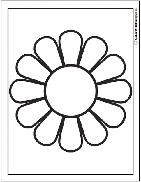 Daisy Coloring Pages Customizable Pdfs Natural Flower
