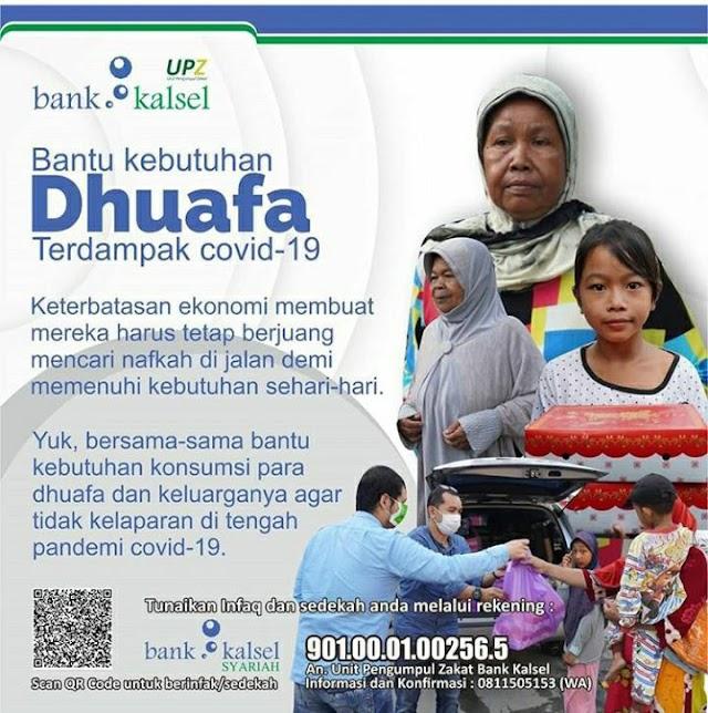 Bantu Kaum Duafa, UPZ Bank Kalsel Ketuk Hati Dermawan