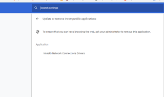Intel Network Driver is an incompatible application