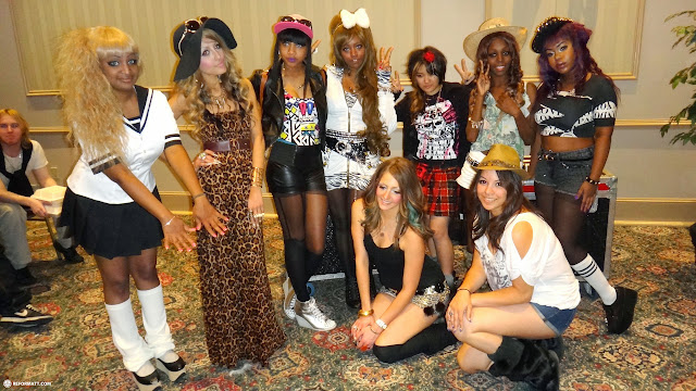 my amazing gyaru girls at the canada gyaru fashion show in Mississauga, Ontario, Canada