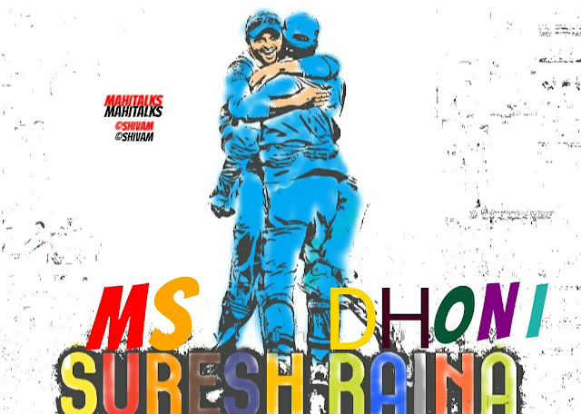 M S Dhoni, Comics Image, Suresh Raina, Mahi, CSK, Chennai Super Kings, Captain Cool, Bleed Blue, Thala Dhoni, Chinna Thala, Team India,