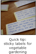 quick tip: sticky labels for vegetable gardening