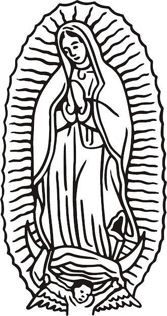 Color Clipart Image Of Our Lady Of Guadalupe  Clipartfest  Our