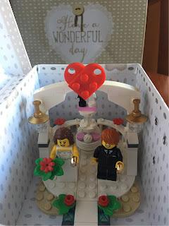 Matrimonio Tema Lego : Biglietto lego per un matrimonio