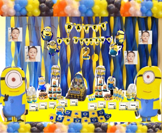 Cerita Cha Ultah Raffi Ke 2 Diy Minion Birthday Party