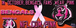 Bengals Breast Cancer Awareness Pink Facebook Cover Photo