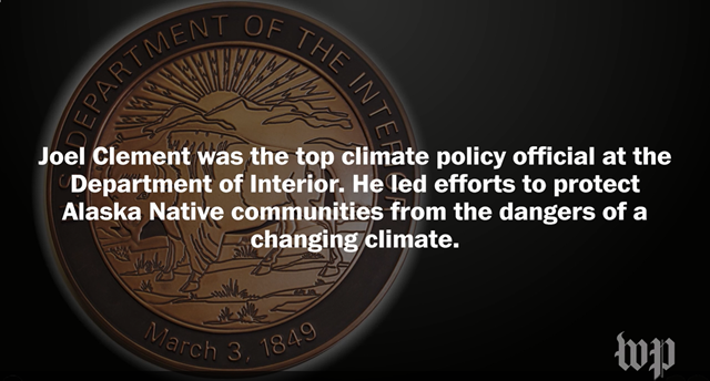 On 19 July 2017, the former top climate policy official at the Department of Interior filed a complaint and a whistleblower disclosure form with the Office of Special Counsel. The official, Joel Clement, says the Trump administration is threatening public health and safety by trying to silence scientists like him. Graphic: Adriana Usero / Kate Woodsome / The Washington Post