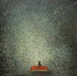 en gris / huile toile / 100x80 / 1994