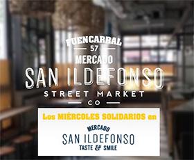 Miércoles Solidarios en el Mercado de San Ildefonso
